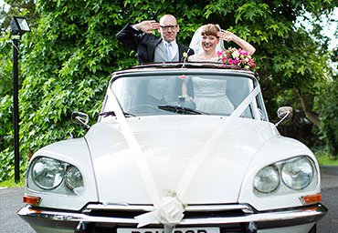 Quirky wedding photo