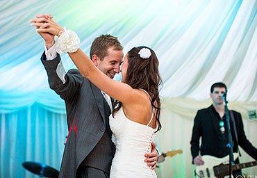 Reception dancing at wedding
