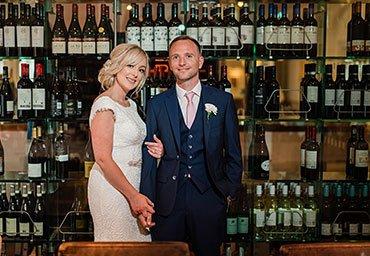 Indoor wedding reception phoo