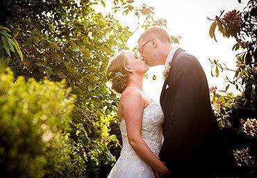 charming wedding photo in the sun